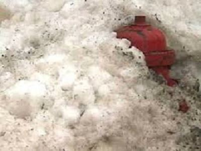 Fire Hydrant Buried in Snow