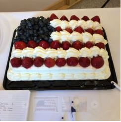 American Flag Dessert on the DR Sideboard
